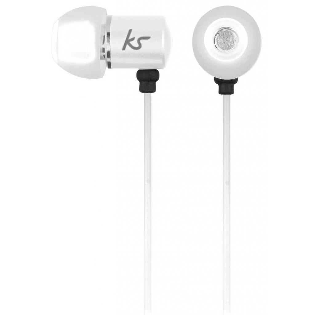 Наушники KitSound KS Ace In-Ear Headphones with mic White (KSACEMWH)