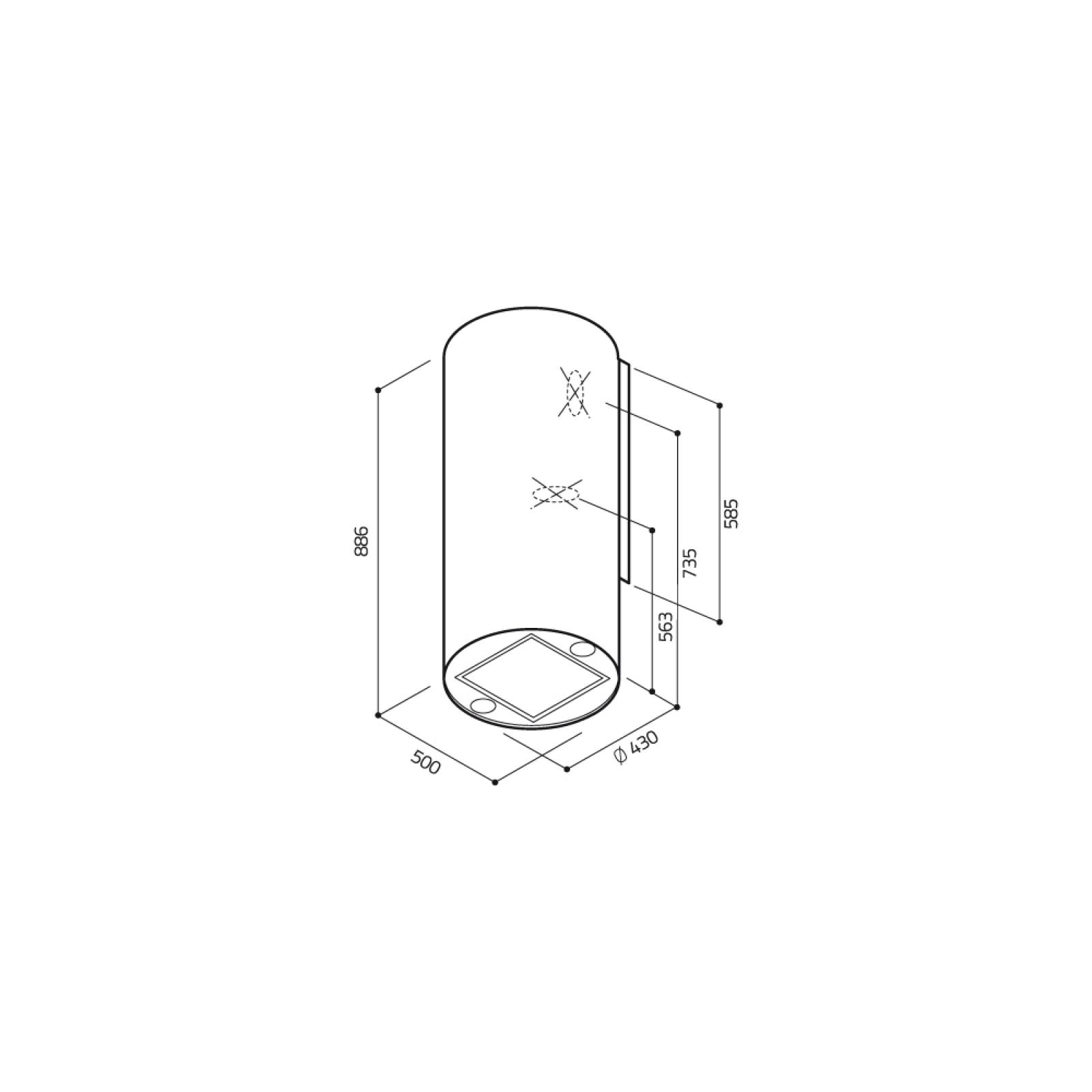 Вытяжка кухонная ELICA TUBE PRO IX/A/43 изображение 2