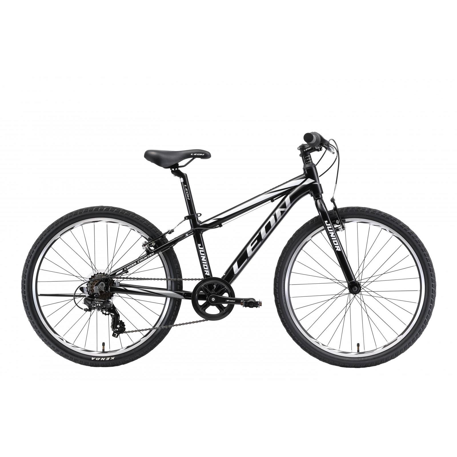"Велосипед Leon 24"" JUNIOR 2018 14G Vbr рама-12,5"" Al чёрно-белый (OPS-LN-24-022)"