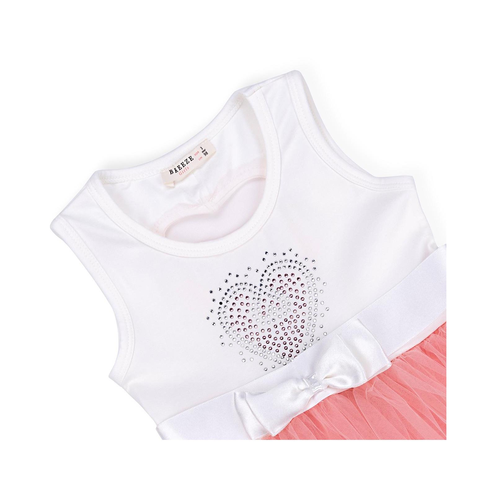 Платье Breeze сарафан с фатиновой юбкой и сердцем (10862-104G-pink) изображение 3