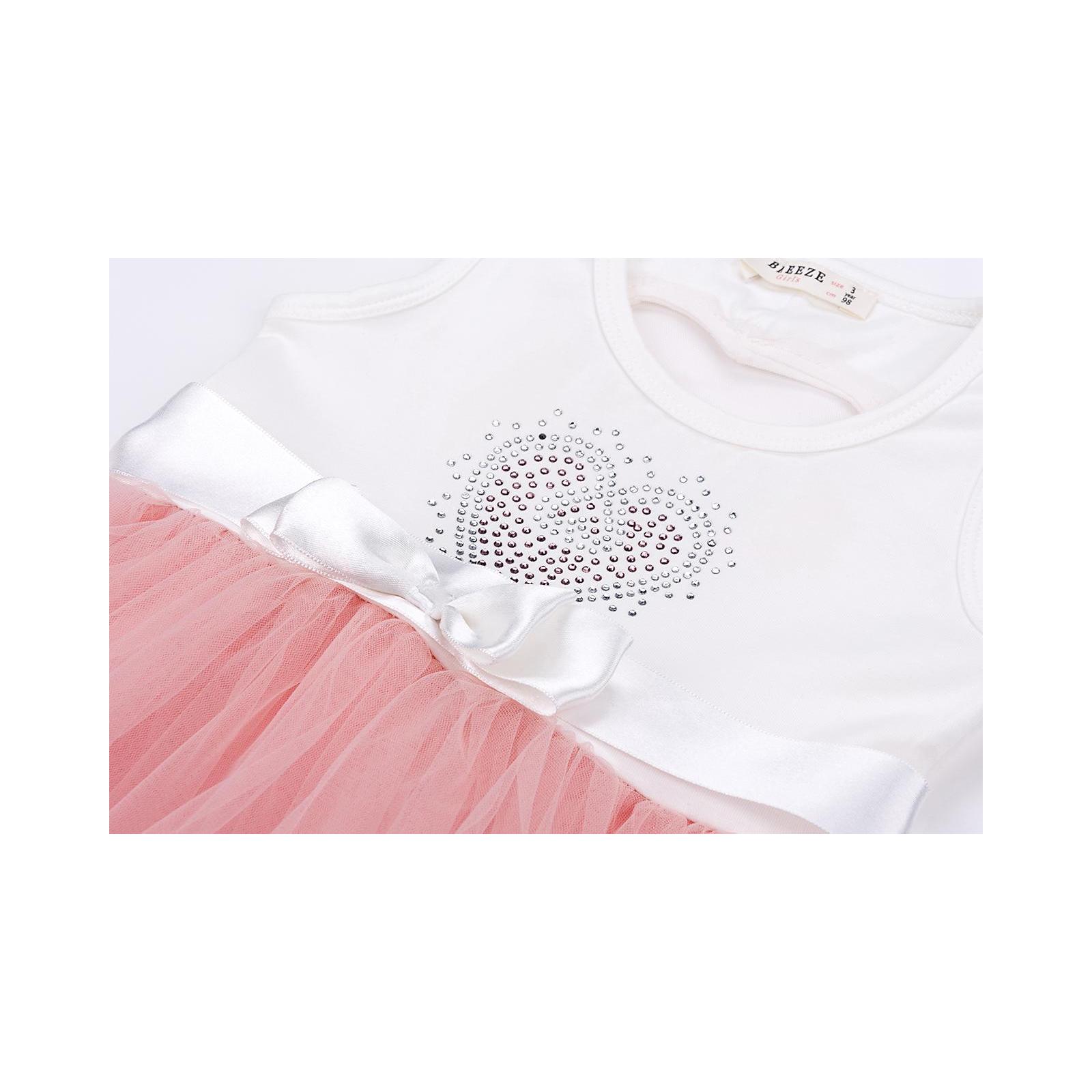 Платье Breeze сарафан с фатиновой юбкой и сердцем (10862-104G-pink) изображение 5