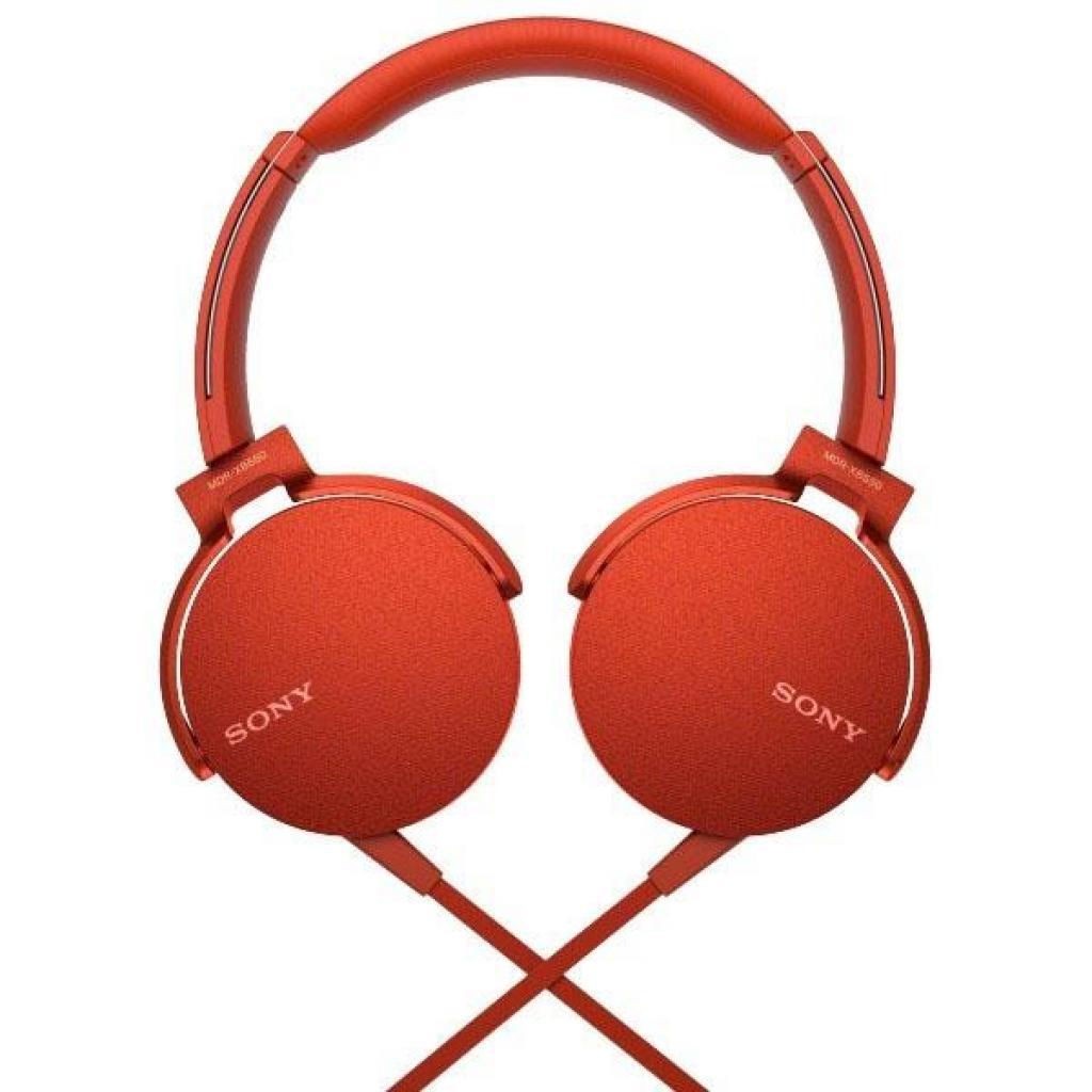 Наушники SONY MDR-XB550AP Red (MDRXB550APR.E) изображение 5