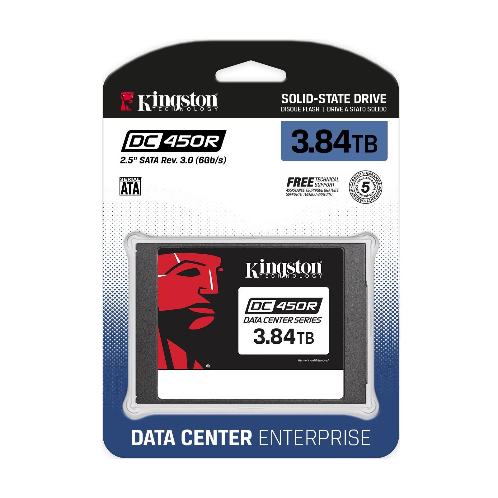 """Накопичувач SSD 2.5"""" 3.84TB Kingston (SEDC450R/3840G) зображення 3"""