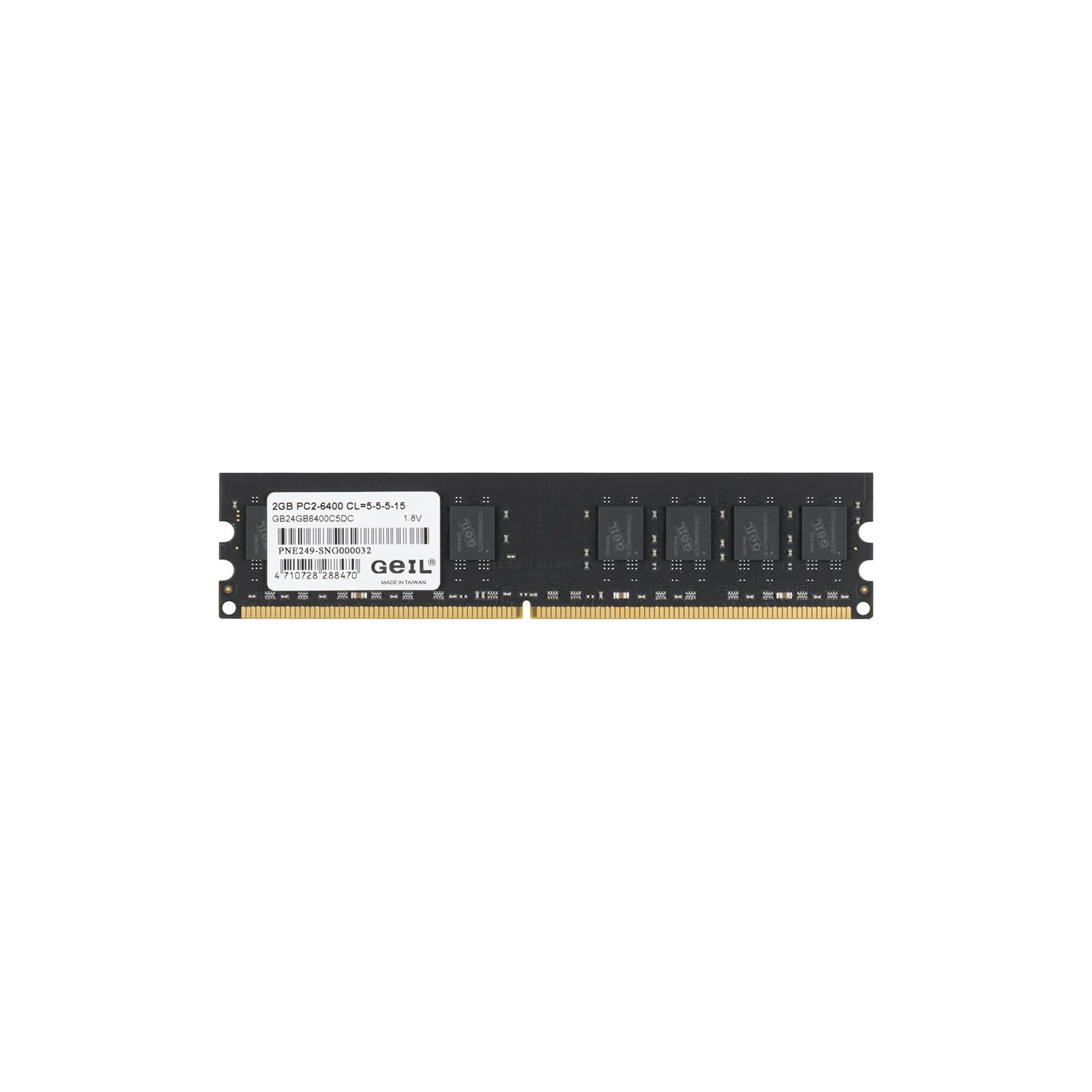 Модуль памяти для компьютера DDR2 4GB (2х2GB) 800 MHz GEIL (GB24GB6400C5DC) изображение 4