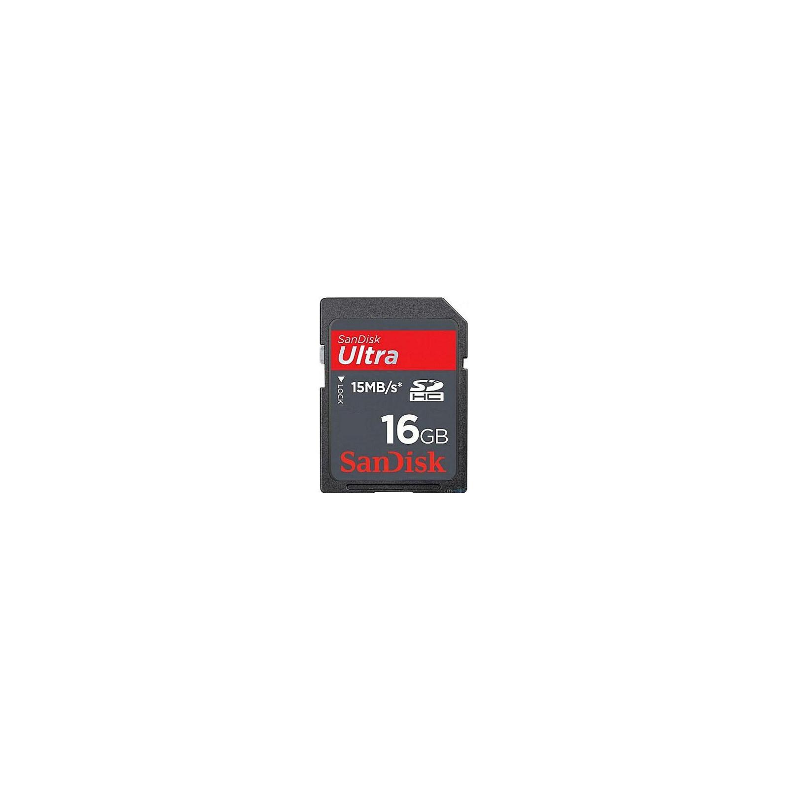 Карта памяти 16Gb SDHC Ultra SANDISK (SDSDH-016G-U46)