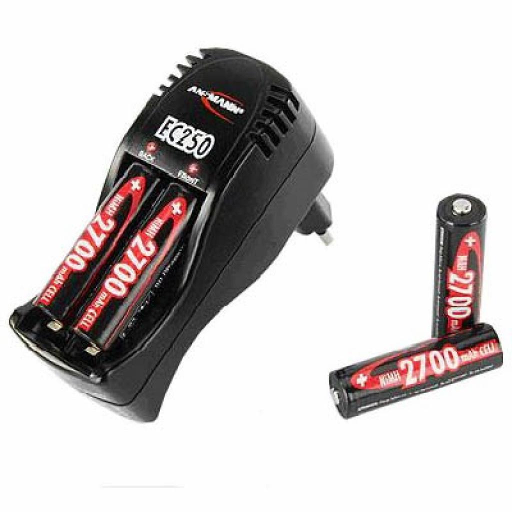 Зарядное устройство для аккумуляторов Ansmann EC250 + 4 AA 2700 mAh GL (R007023)