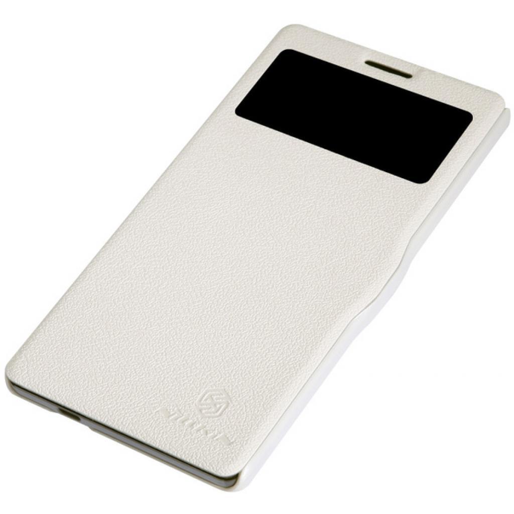 Чехол для моб. телефона NILLKIN для Lenovo K910 /Fresh/ Leather/White (6120376) изображение 3