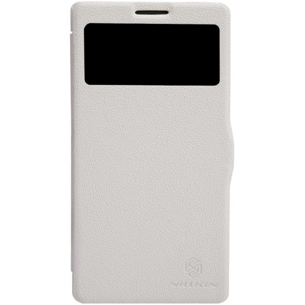 Чехол для моб. телефона NILLKIN для Lenovo K910 /Fresh/ Leather/White (6120376)