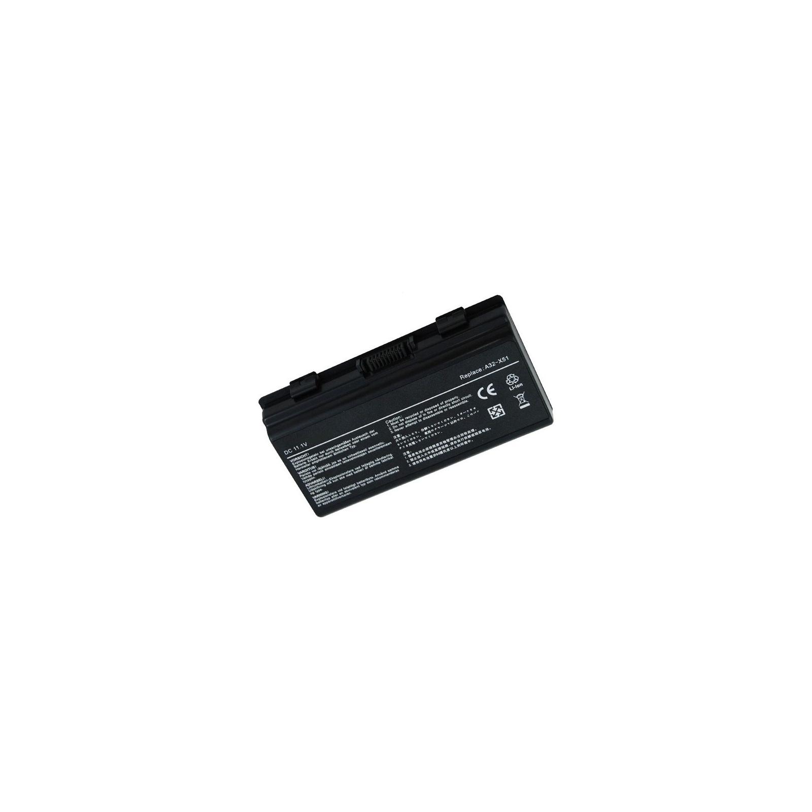 Аккумулятор для ноутбука ASUS X51H (A32-T12, AS5151LH) 11.1V 5200mAh PowerPlant (NB00000011)