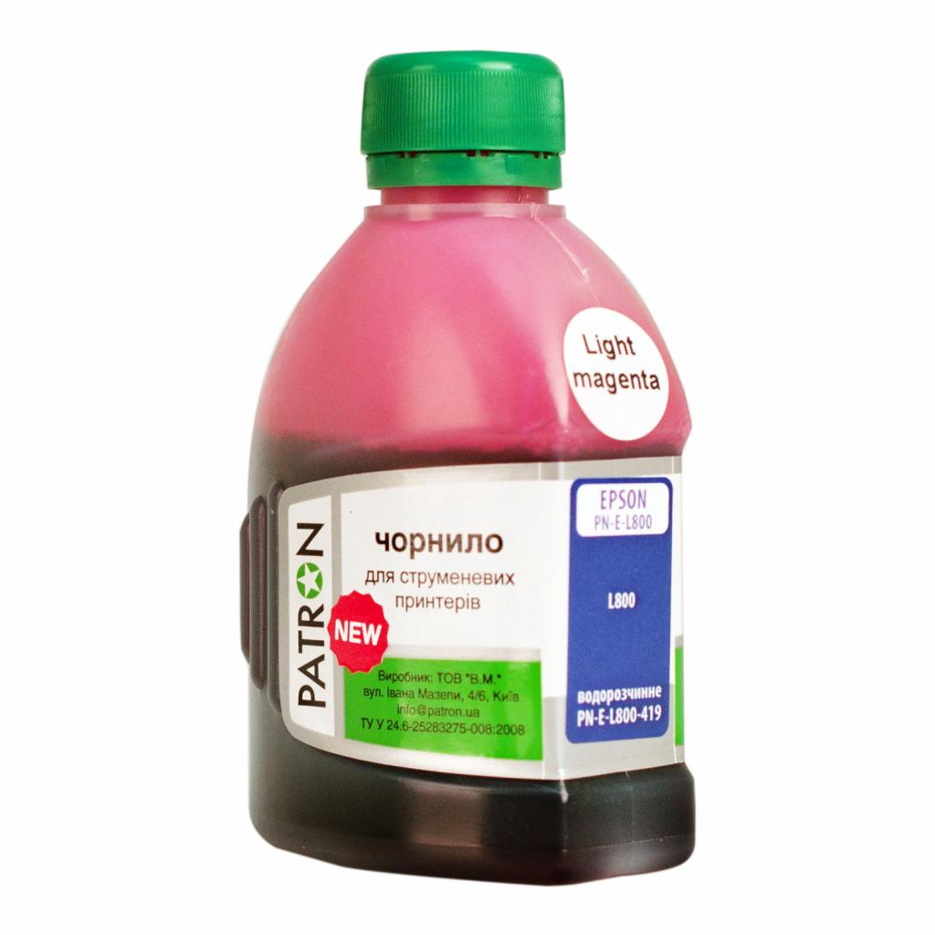 Чернила PATRON EPSON L800 180г(NEW) LIGHT MAGENTA/PN-E-L800N-419 (I-PN-E-L800N-180-LM)