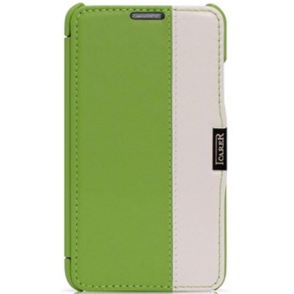 Чехол для моб. телефона i-Carer Side Open colorblock series до Samsung Galaxy Note 3 Green+ (RS900002GW)