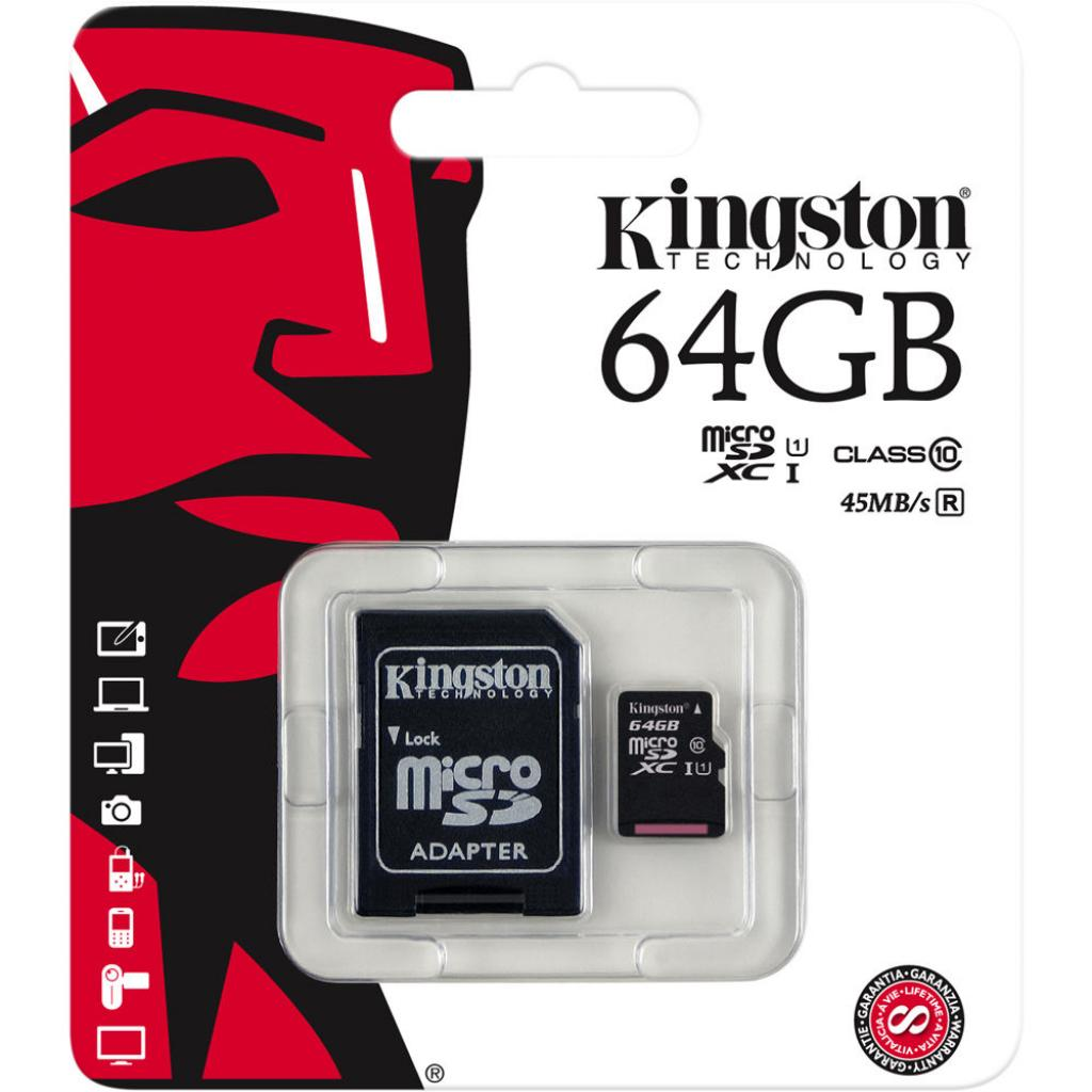 Карта памяти Kingston 64GB microSDXC Class 10 UHS-I (SDC10G2/64GB) изображение 3