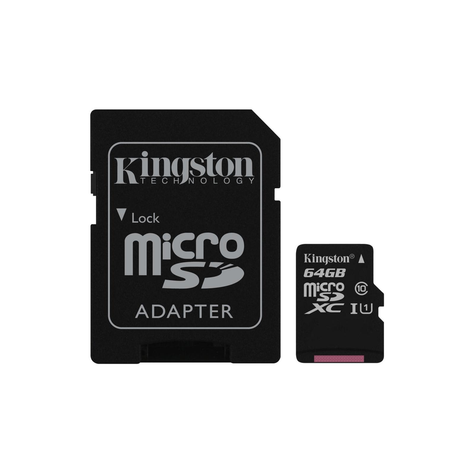 Карта памяти Kingston 64GB microSDXC Class 10 UHS-I (SDC10G2/64GB)
