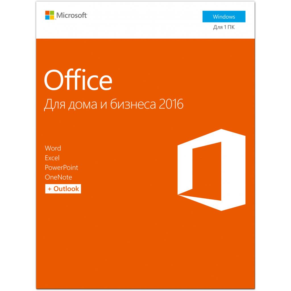 Офісний додаток Microsoft Office 2016 Home and Business Russian DVD P2 (T5D-02703) зображення 2