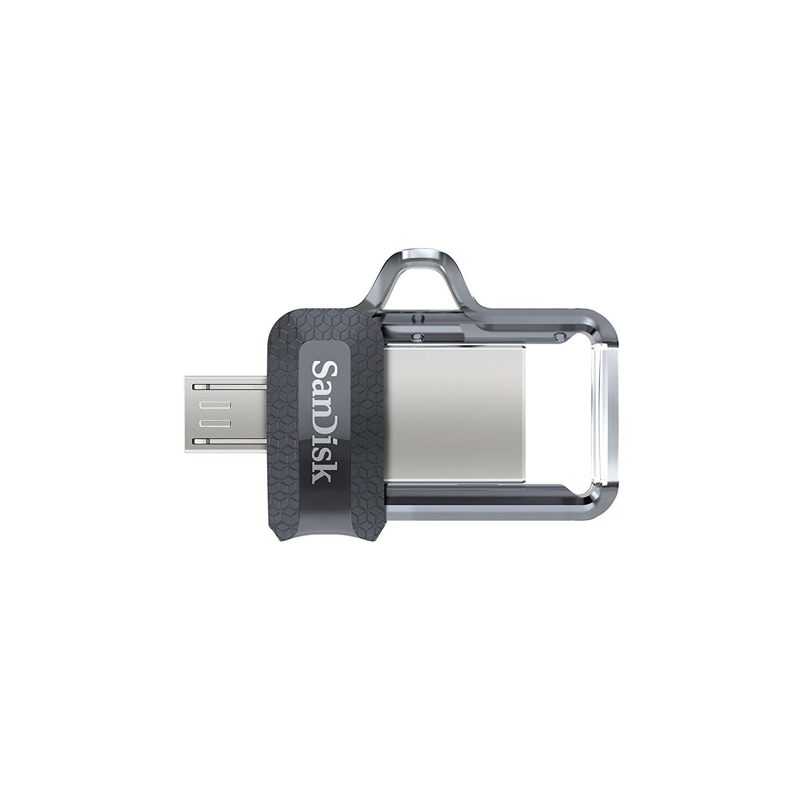 USB флеш накопитель SanDisk 64GB Ultra Dual Black USB 3.0 OTG (SDDD3-064G-G46) изображение 2