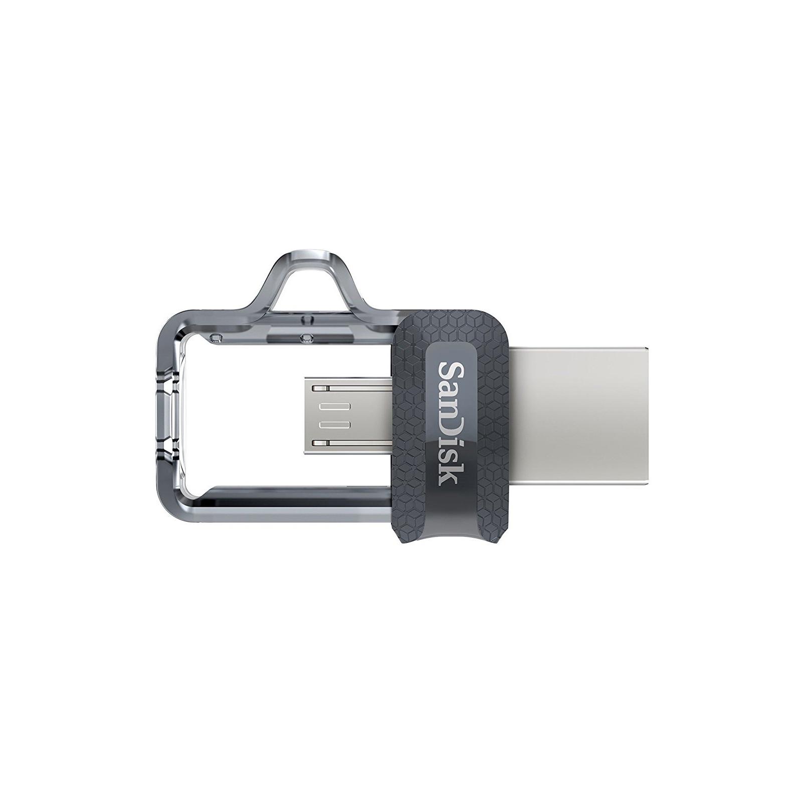 USB флеш накопитель SanDisk 64GB Ultra Dual Black USB 3.0 OTG (SDDD3-064G-G46) изображение 3
