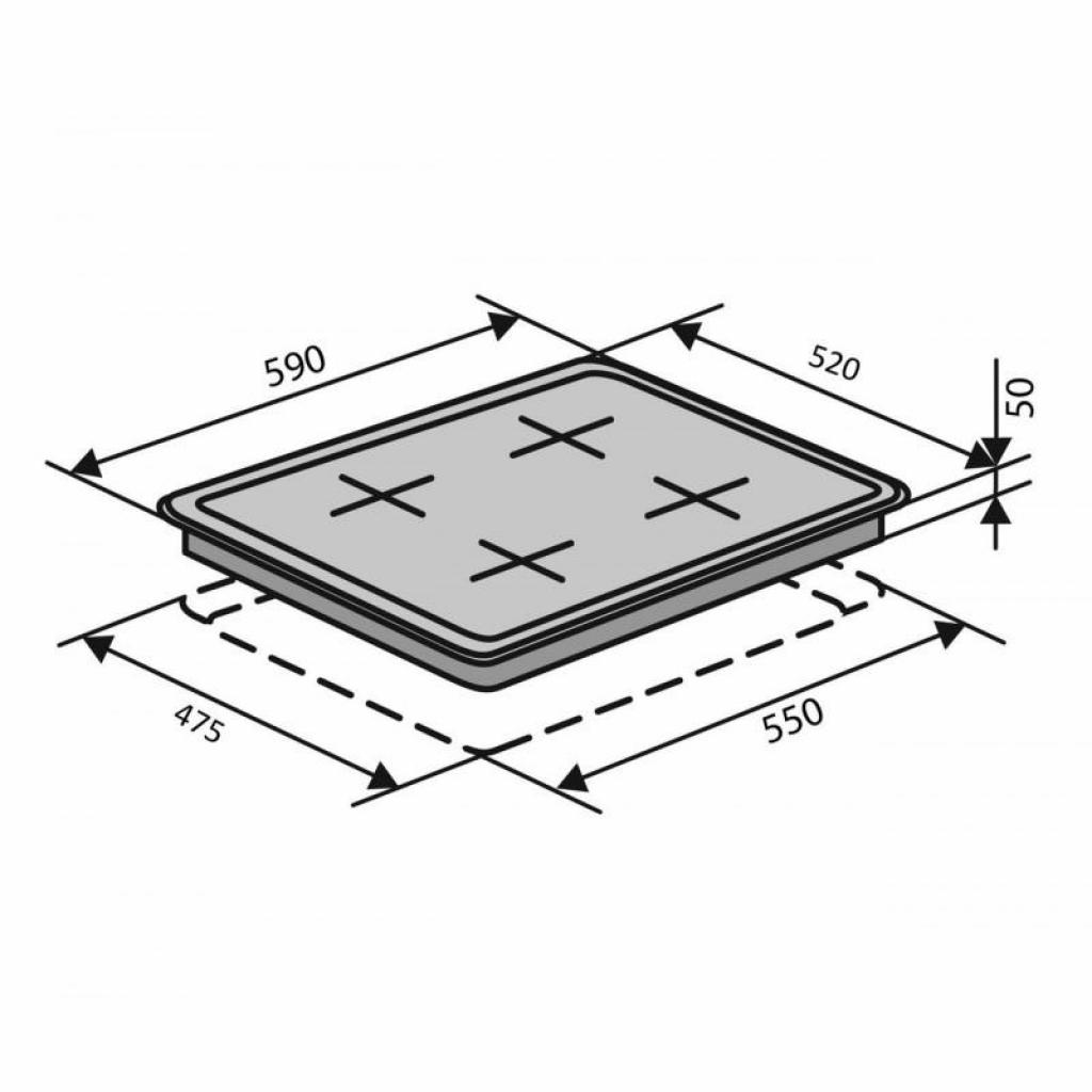 Варочная поверхность Ventolux HSF640-L3 C (WH) изображение 6
