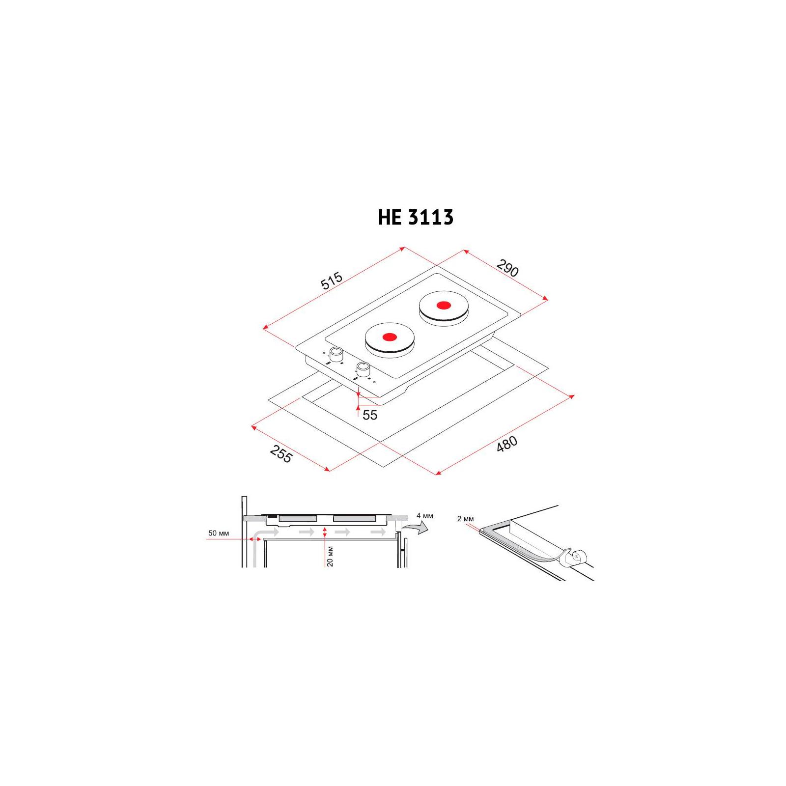 Варочная поверхность PERFELLI HE 3113 WH изображение 5
