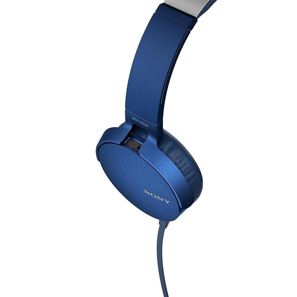 Наушники SONY MDR-XB550AP Blue (MDRXB550APL.E) изображение 5
