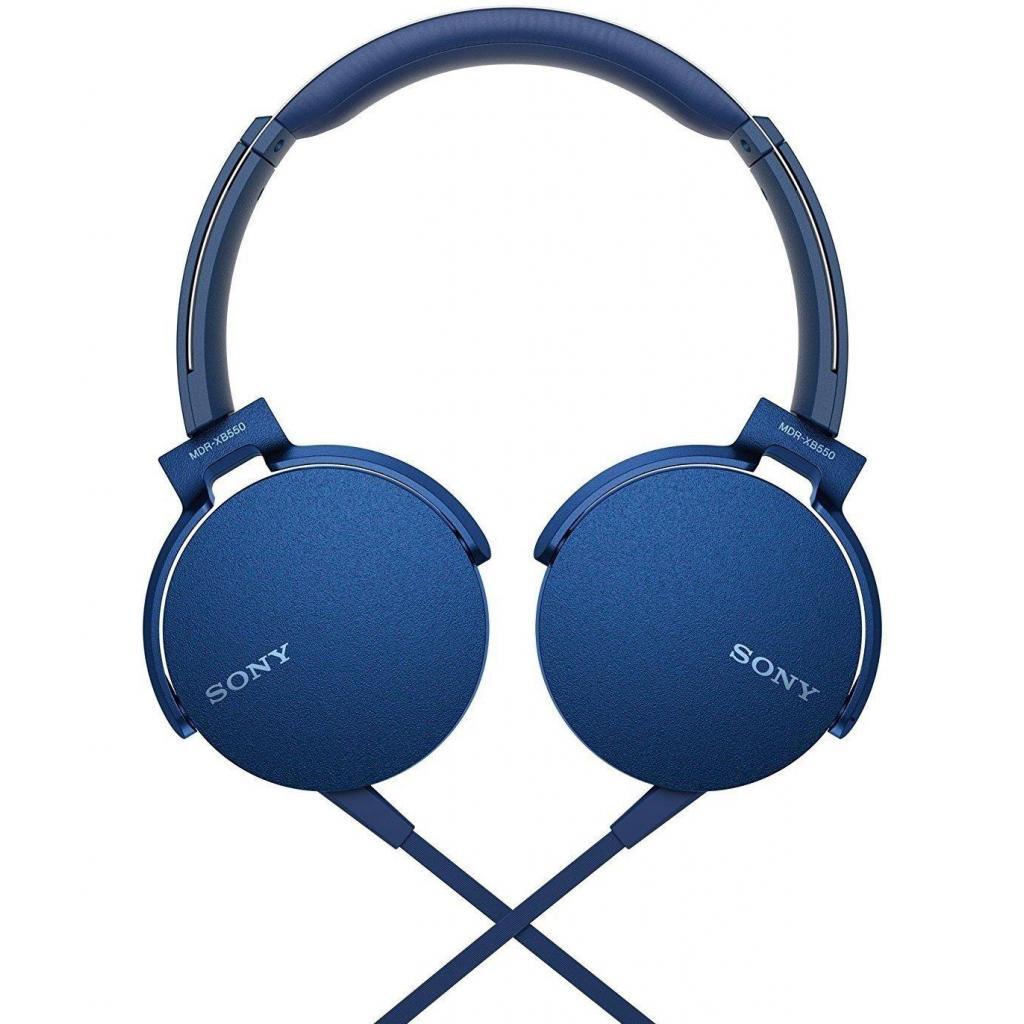 Наушники SONY MDR-XB550AP Blue (MDRXB550APL.E) изображение 8