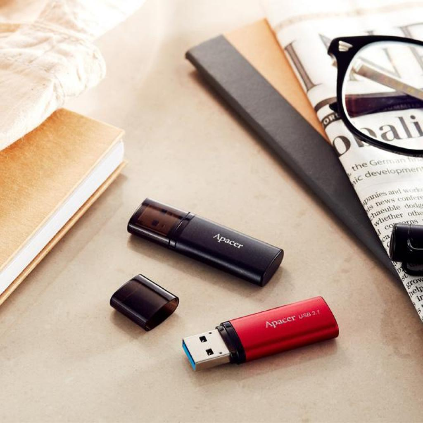 USB флеш накопитель Apacer 32GB AH25B Red USB 3.1 Gen1 (AP32GAH25BR-1) изображение 5
