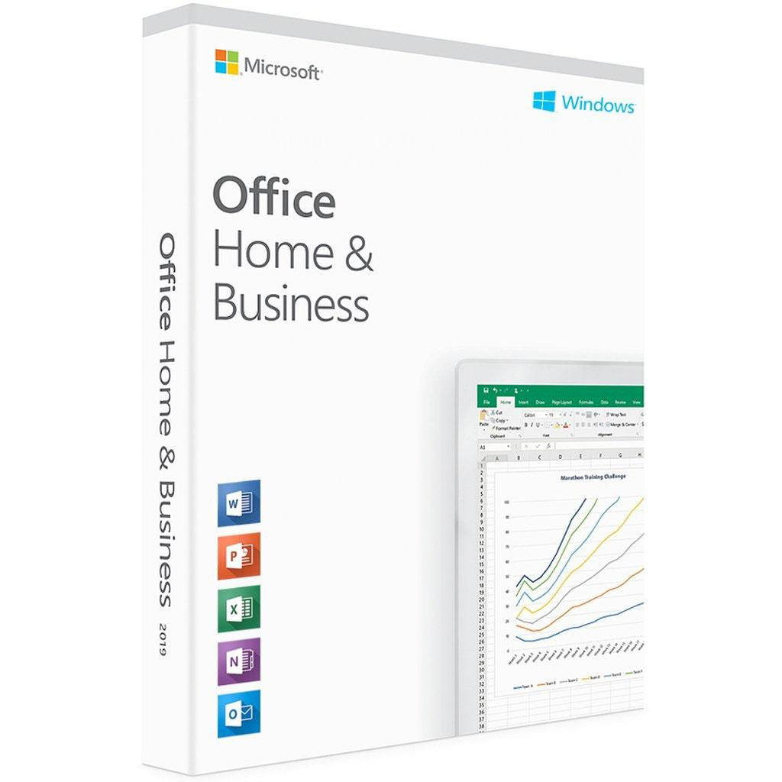 Офісний додаток Microsoft Office 2019 Home and Business English Medialess P6 (T5D-03347)
