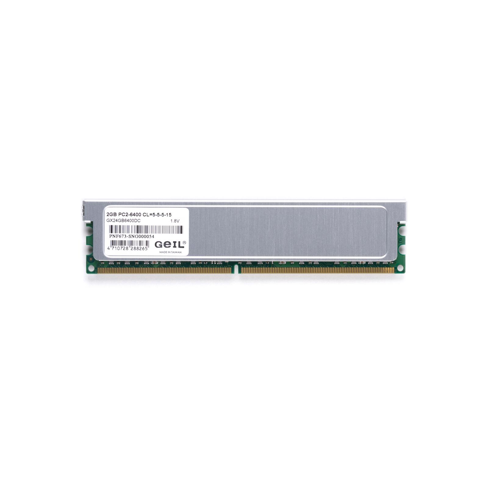 Модуль памяти для компьютера DDR2 4GB (2х2GB) 800 MHz GEIL (GX24GB6400DC) изображение 4