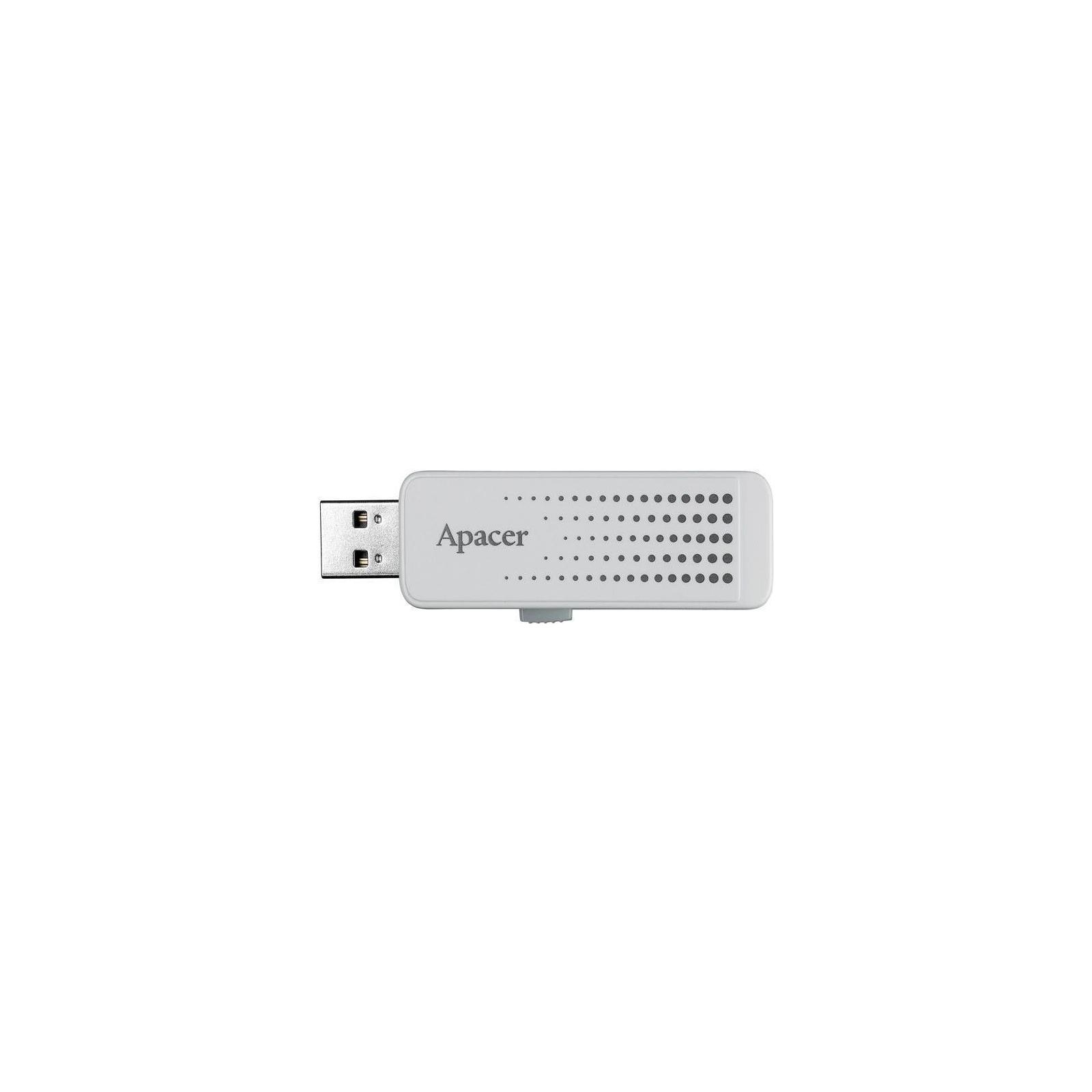 USB флеш накопитель Handy Steno AH323 white Apacer (AP8GAH323W-1) изображение 4