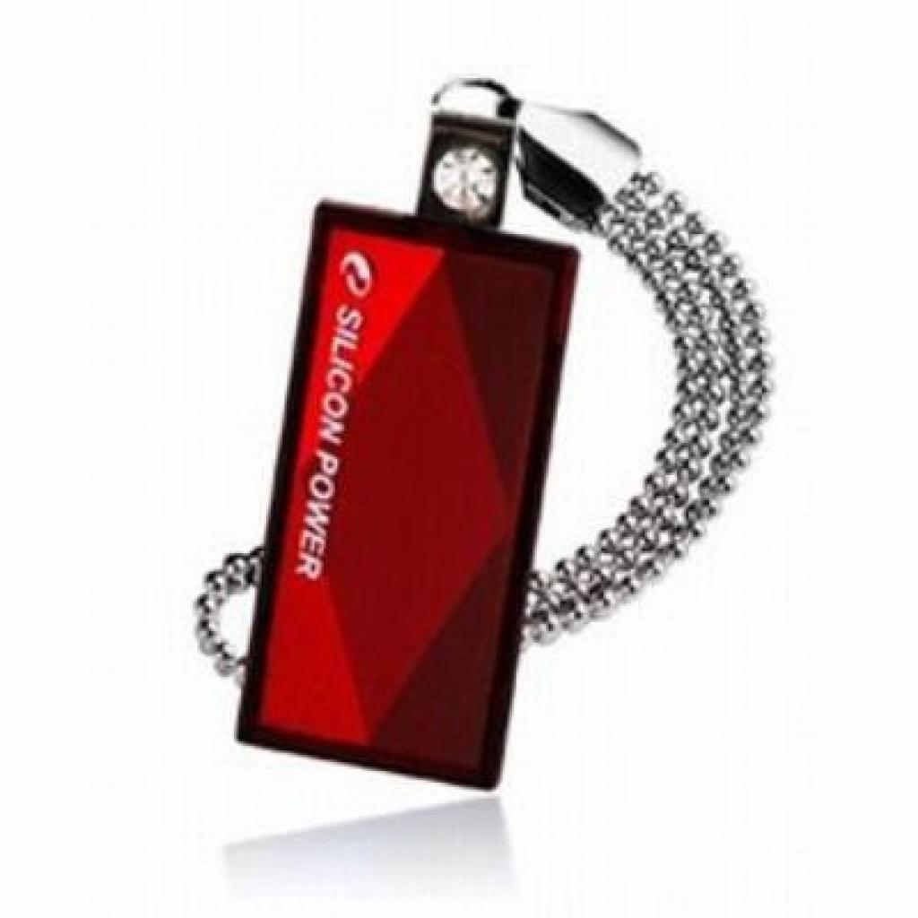 USB флеш накопитель Silicon Power 4Gb Touch 810 red (SP004GBUF2810V1R)