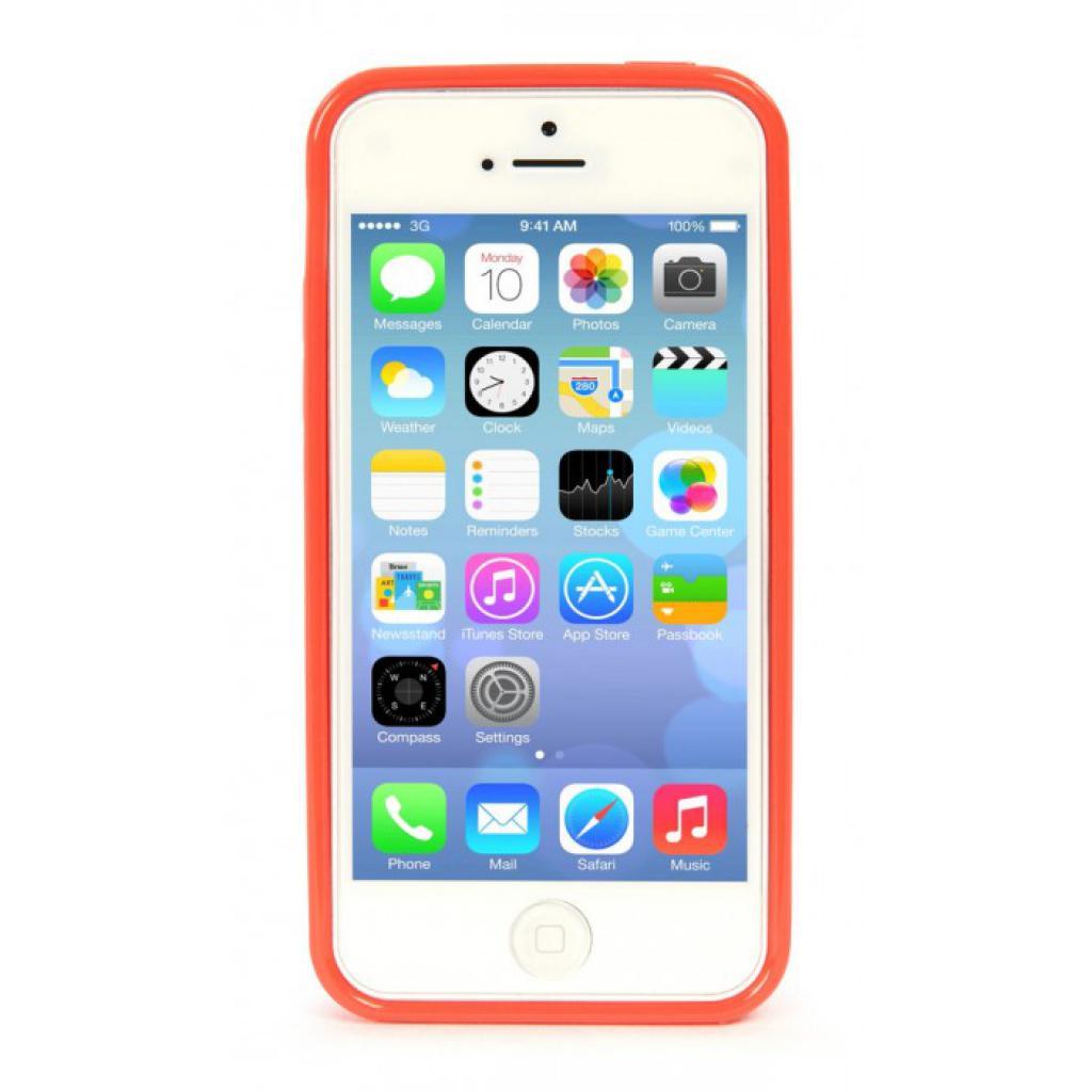 Чехол для моб. телефона Tucano iPhone 5С /Velo/Coral red (IPHCV-R) изображение 2