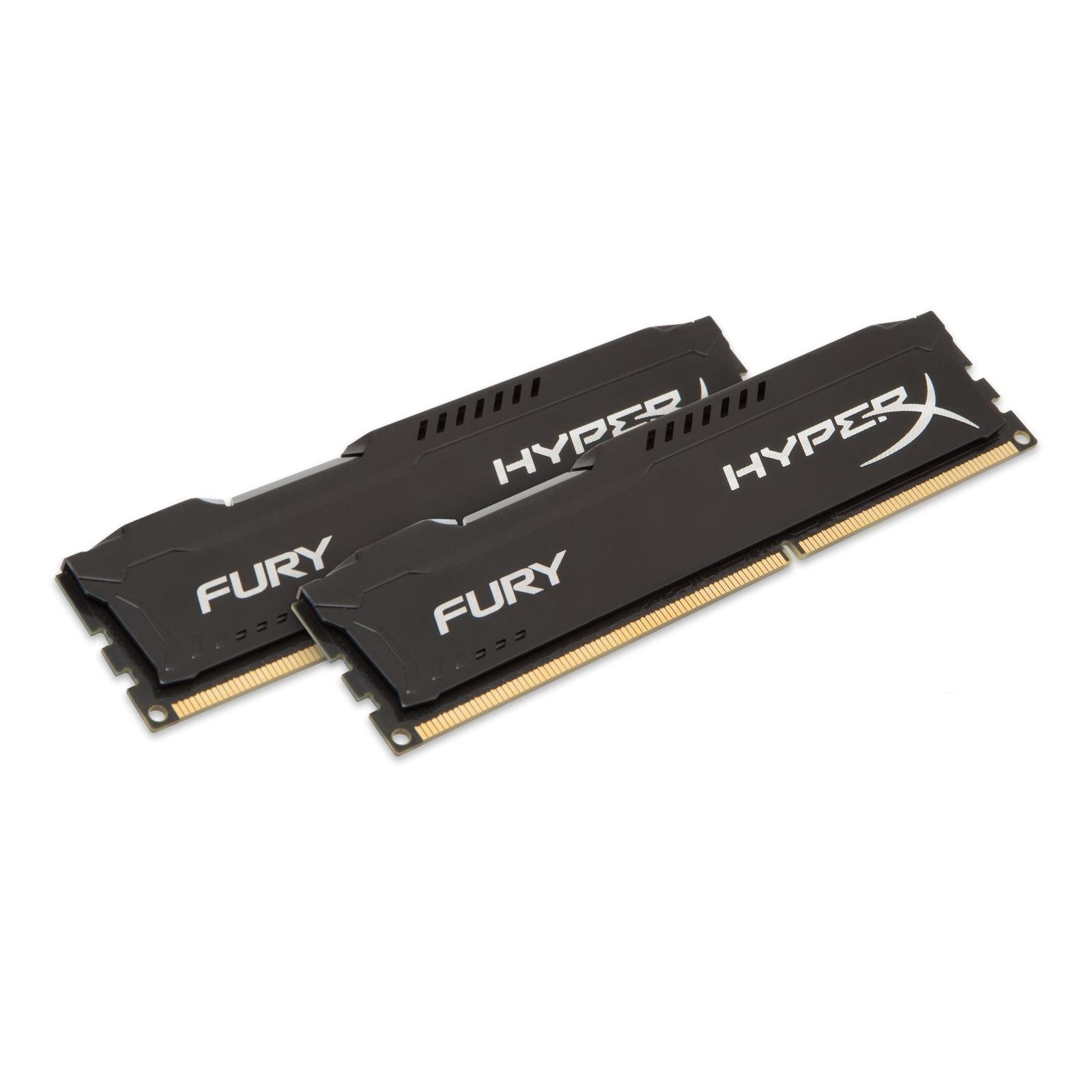 Модуль памяти для компьютера 16Gb DDR3 1600M Hz HyperX Fury Black (2x8GB) Kingston (HX316C10FBK2/16) изображение 2