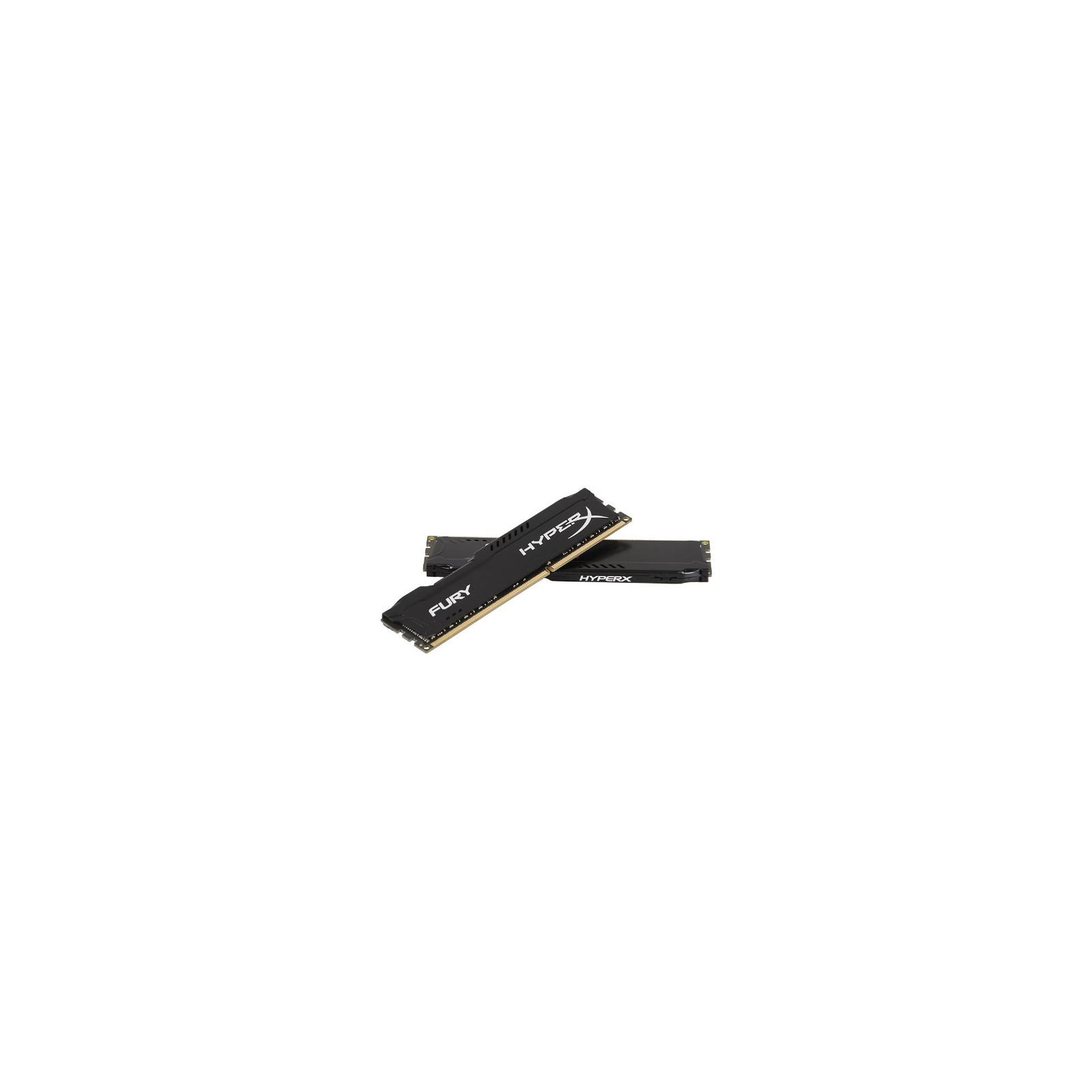 Модуль памяти для компьютера 16Gb DDR3 1600M Hz HyperX Fury Black (2x8GB) Kingston (HX316C10FBK2/16) изображение 4