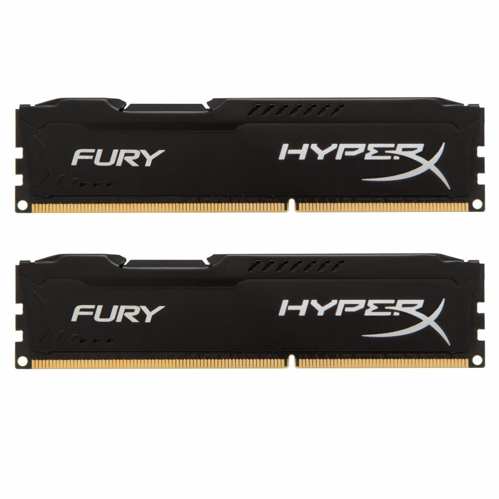 Модуль памяти для компьютера 16Gb DDR3 1600M Hz HyperX Fury Black (2x8GB) Kingston (HX316C10FBK2/16)