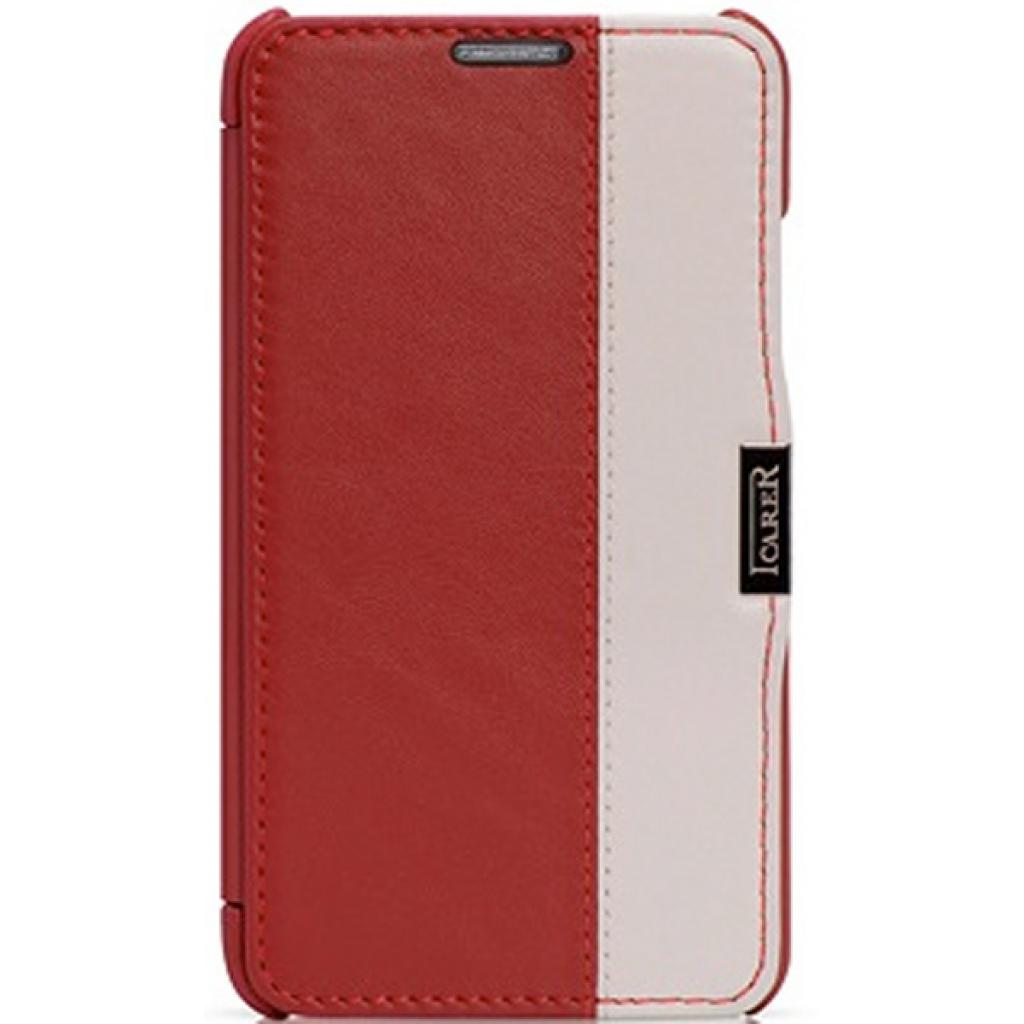 Чехол для моб. телефона i-Carer Side Open colorblock series до Samsung Galaxy Note 3 Red+Wh (RS900002RW)