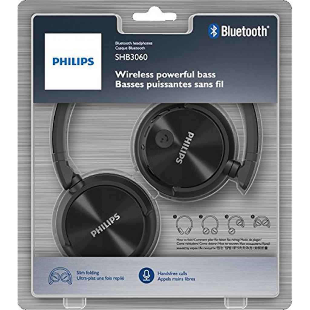 Наушники PHILIPS SHB3060 Black Wireless (SHB3060BK/00) изображение 3