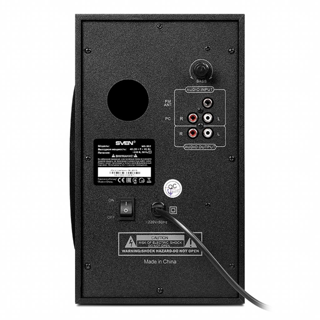 Акустическая система SVEN MS-302 black изображение 3