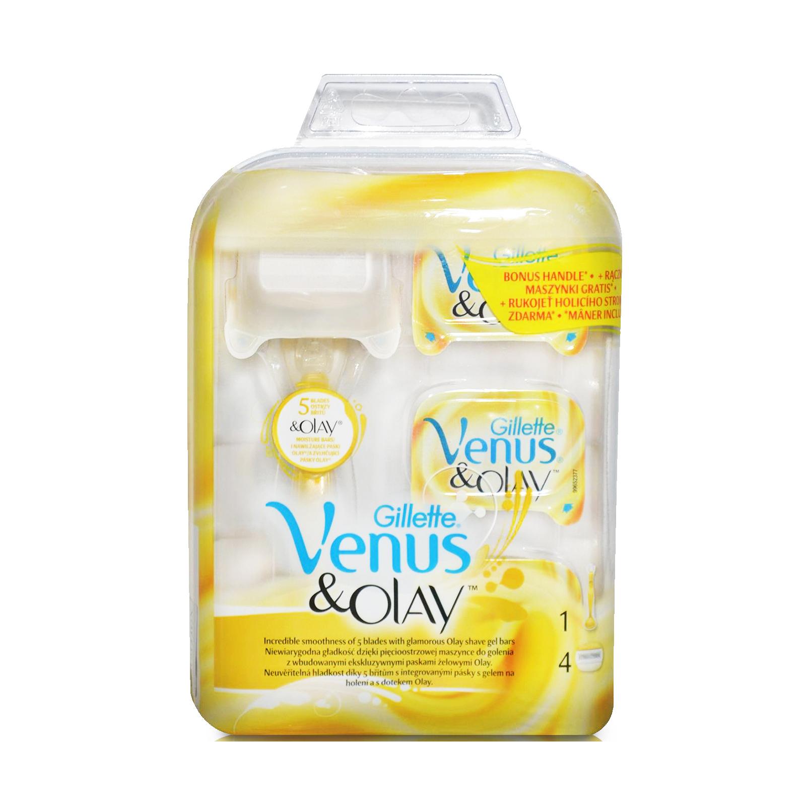 Набор для бритья Venus Бритва Venus&Olay c кассетой+сменные кассеты 3 шт (7702018330461)