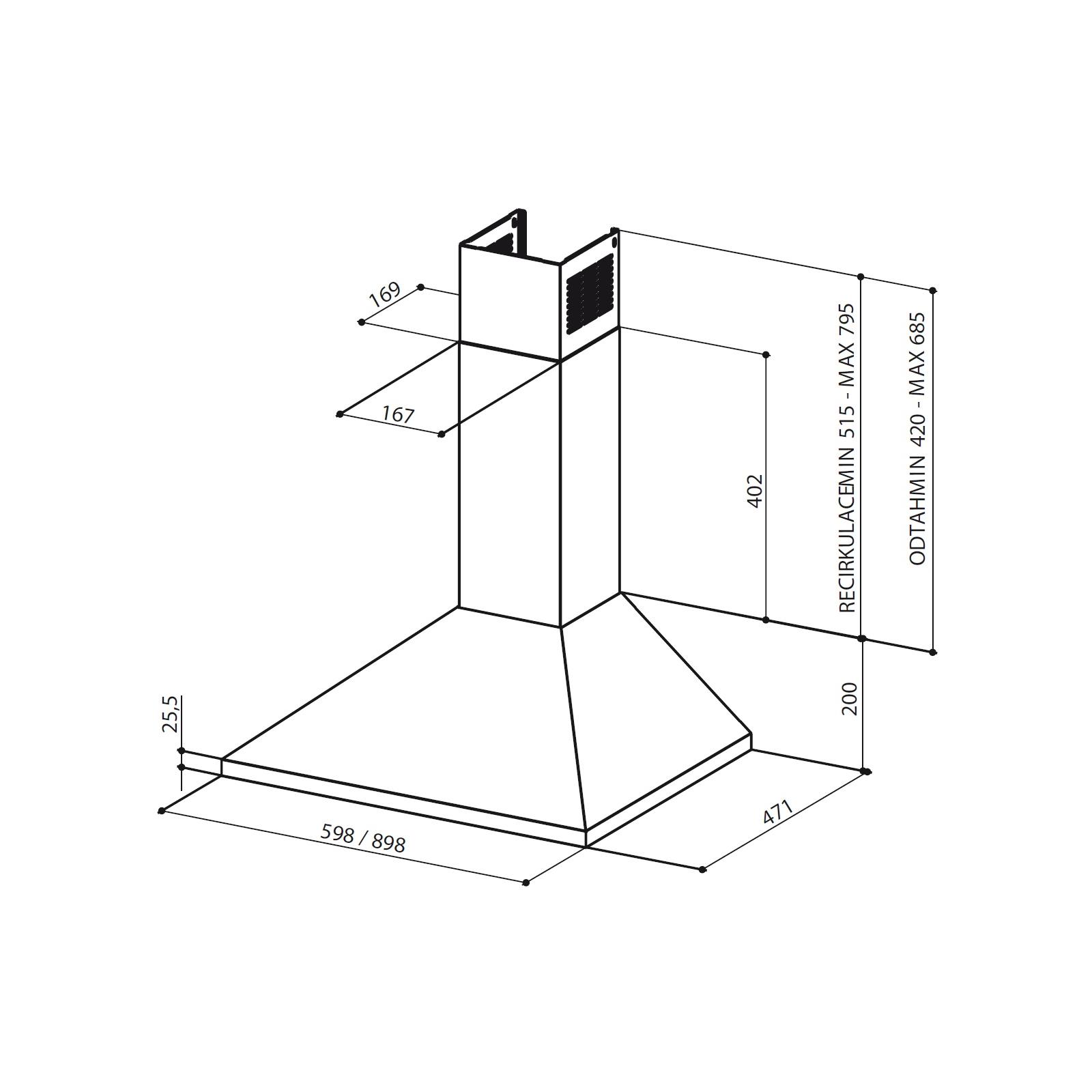 Вытяжка кухонная Faber VALUE W A 60 PB изображение 2