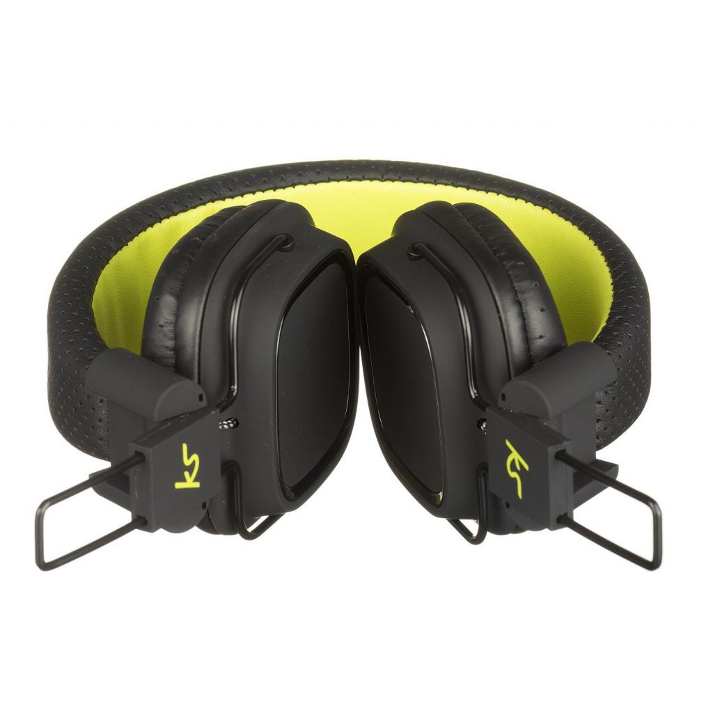 Наушники KitSound KS Clash On-Ear Headphones with In-line Mic (Black) (KSCLABK) изображение 4