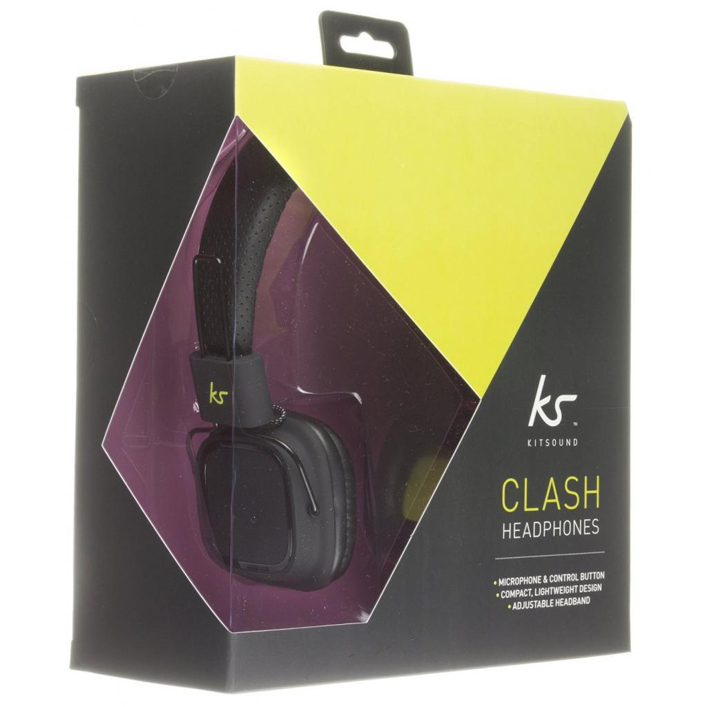 Наушники KitSound KS Clash On-Ear Headphones with In-line Mic (Black) (KSCLABK) изображение 5
