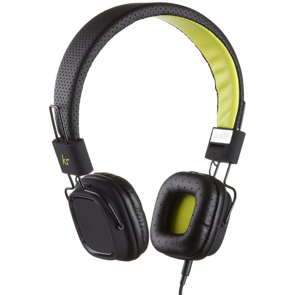 Наушники KitSound KS Clash On-Ear Headphones with In-line Mic (Black) (KSCLABK)
