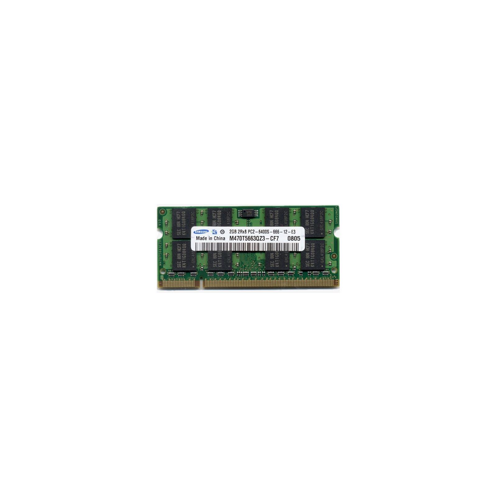 Модуль памяти для ноутбука SoDIMM DDR2 2GB 800 MHz Samsung (M470T5663QZ3-CF7)