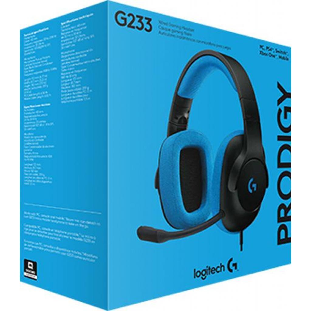 Наушники Logitech G233 Prodigy Gaming Headset (981-000703) изображение 4