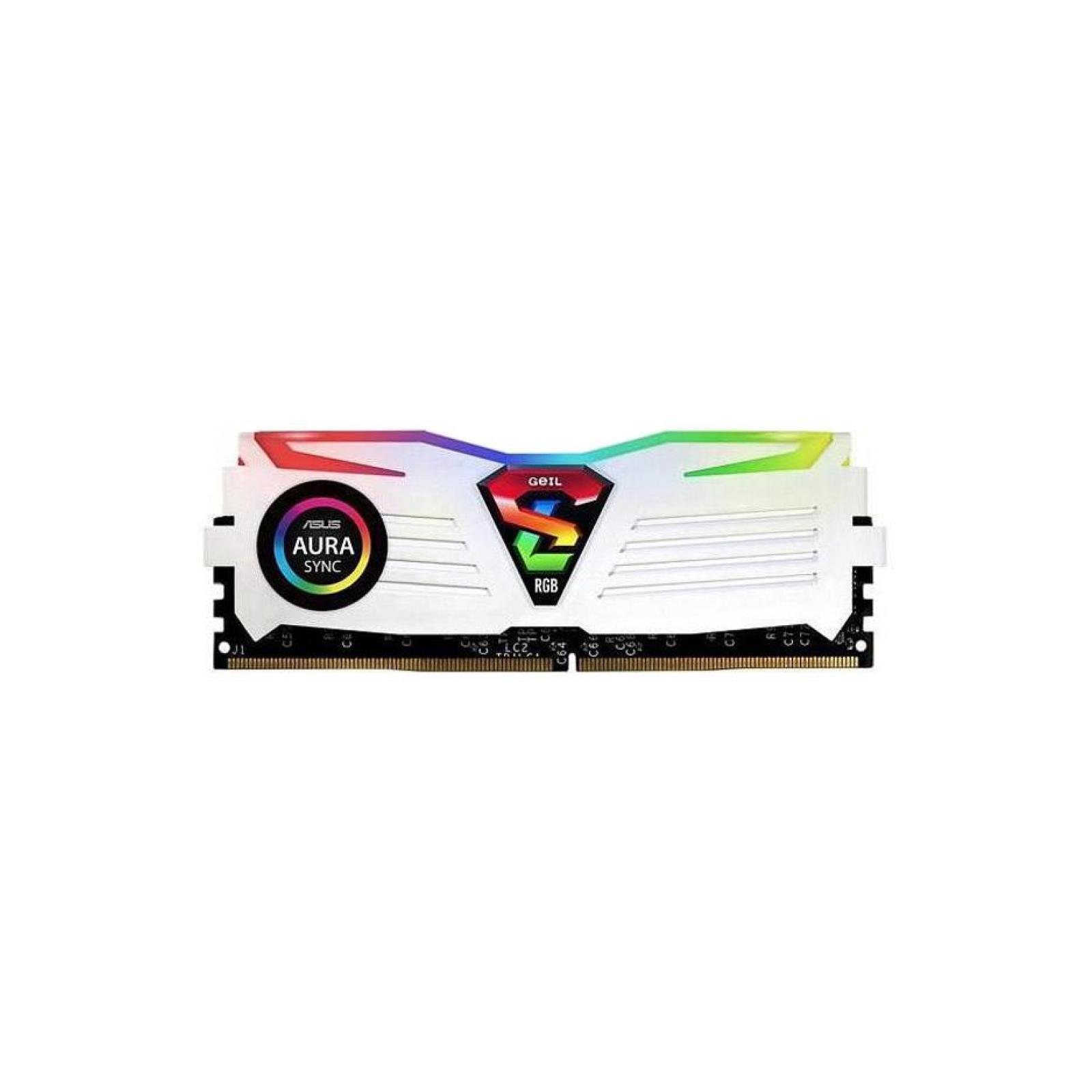 Модуль памяти для компьютера DDR4 8GB (2x4GB) 2666 MHz Super Luce RGB Sync White H Geil (GLWS48GB2666C16ADC) изображение 2