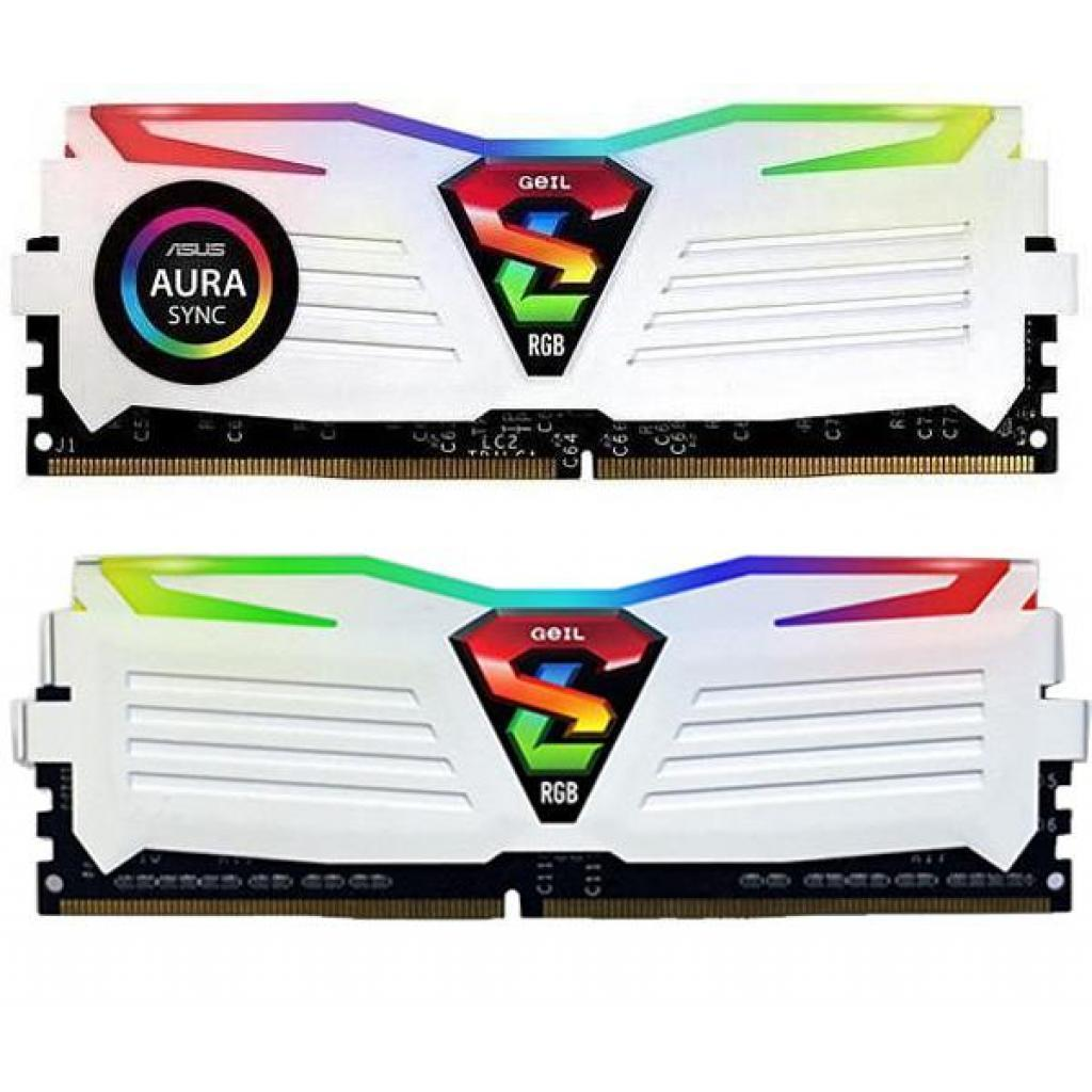 Модуль памяти для компьютера DDR4 8GB (2x4GB) 2666 MHz Super Luce RGB Sync White H Geil (GLWS48GB2666C16ADC)