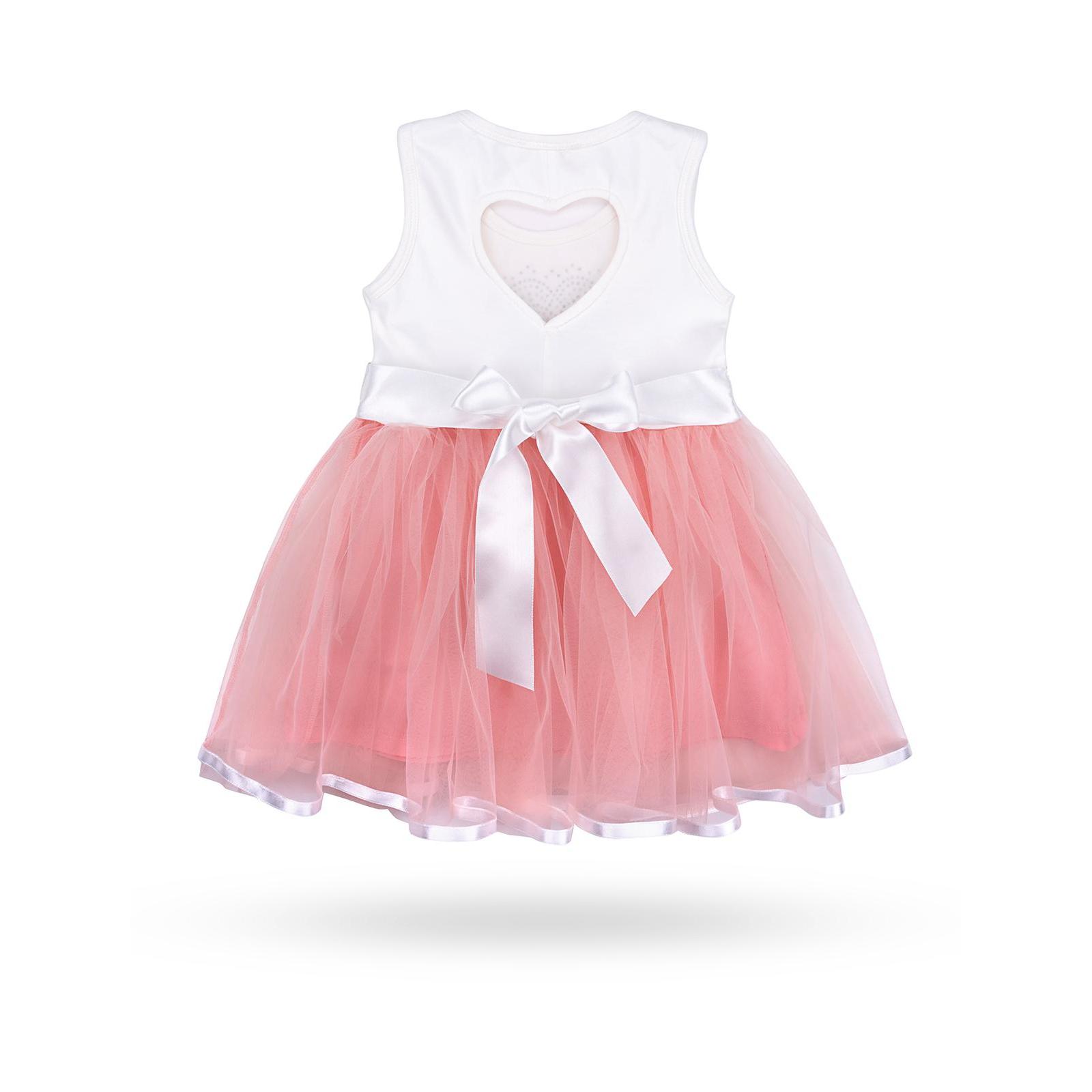 Платье Breeze сарафан с фатиновой юбкой и сердцем (10862-128G-peach) изображение 2