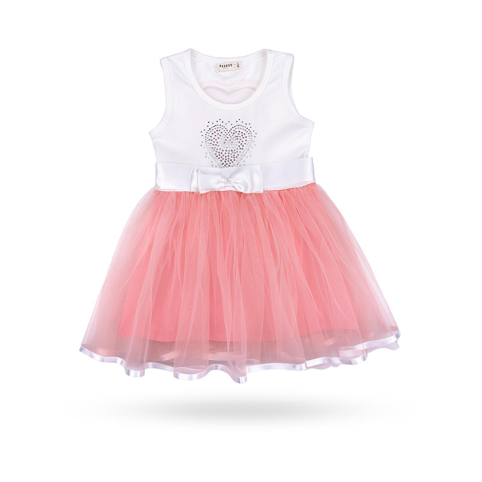 Платье Breeze сарафан с фатиновой юбкой и сердцем (10862-128G-peach)