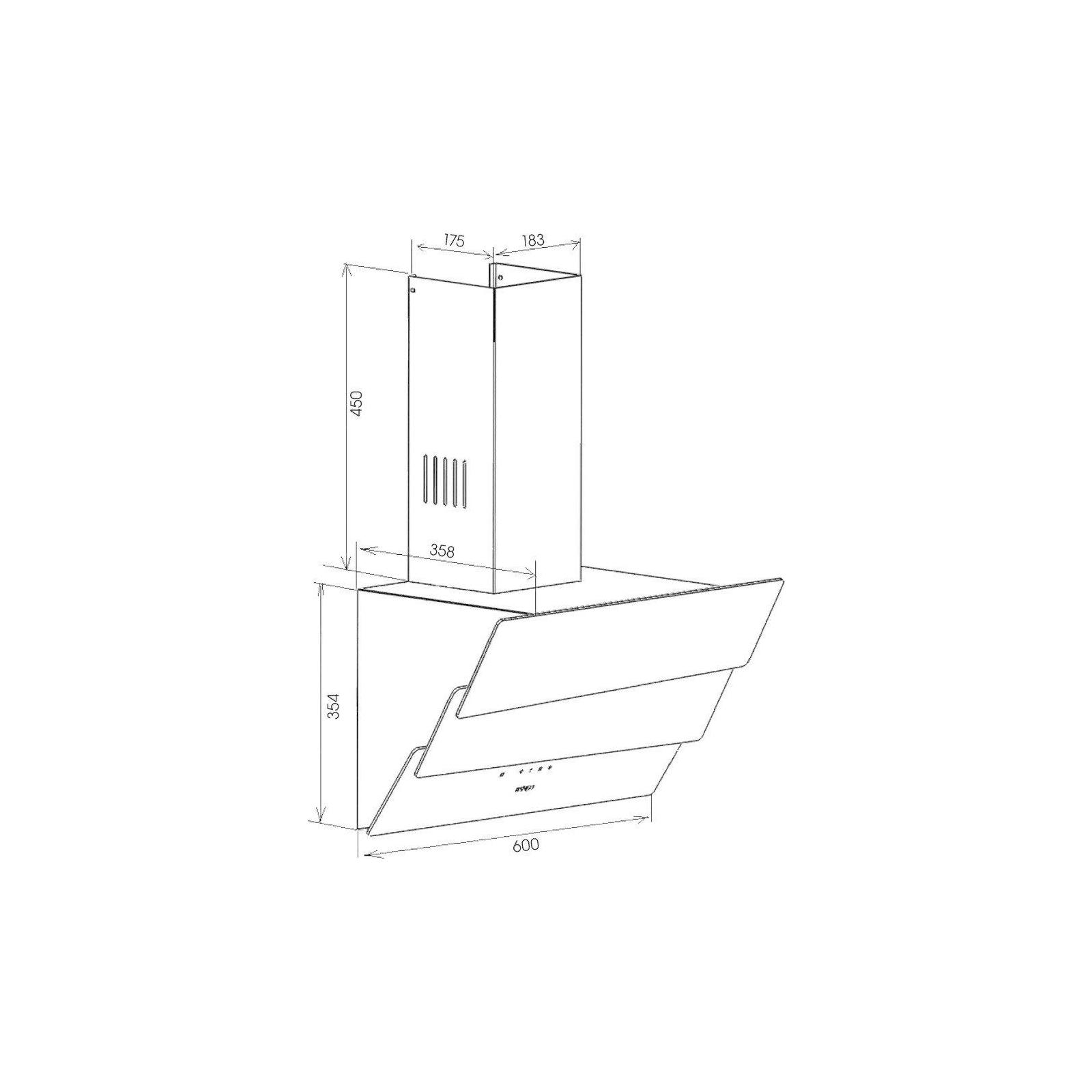 Вытяжка кухонная ZIRTAL FALCON 60 WH изображение 10
