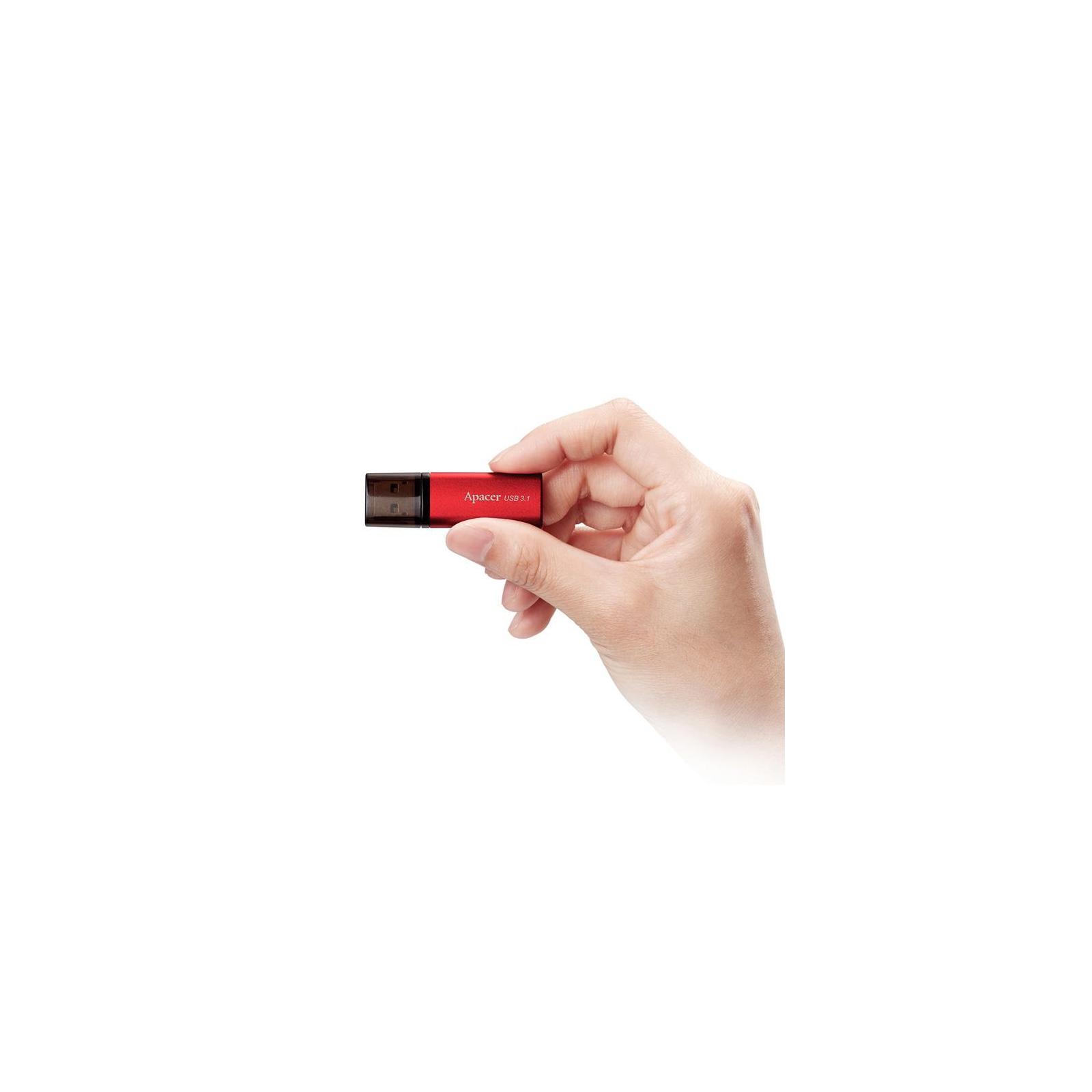 USB флеш накопитель Apacer 32GB AH25B Red USB 3.1 Gen1 (AP32GAH25BR-1) изображение 4