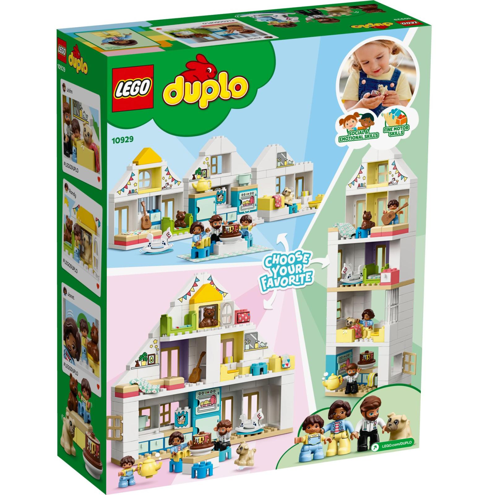 Конструктор LEGO DUPLO Town Модульный игрушечный дом 129 деталей (10929) изображение 4